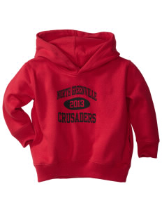 North Greenville University Crusaders  Toddler Fleece Hooded Sweatshirt with Pockets
