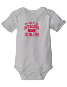 North Greenville University Crusaders Baby Zig-Zag Creeper