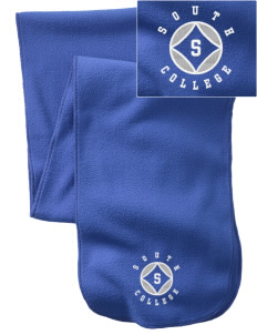 South College College  Embroidered Extra Long Fleece Scarf