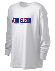 John Glenn High School Eagles Kid's 6.1 oz Long Sleeve Ultra Cotton T-Shirt