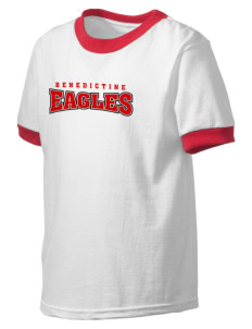 Benedictine University Eagles Kid's Ringer T-Shirt