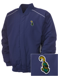 Clarkson University Golden Knights Embroidered Russell Men's Baseball Jacket