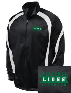 Missouri Southern State University Lions Embroidered Holloway Men's Tricotex Warm Up Jacket