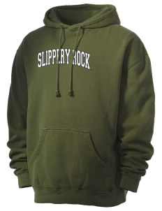Slippery Rock University The Rock Men's 80/20 Pigment Dyed Hooded Sweatshirt