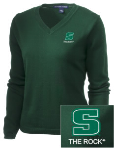 Slippery Rock University The Rock Embroidered Women's V-Neck Sweater