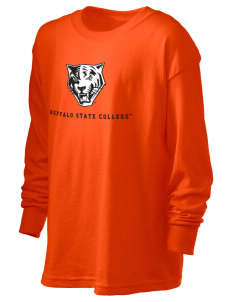 Buffalo State College Bengals Kid's 6.1 oz Long Sleeve Ultra Cotton T-Shirt