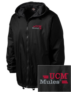 University of Central Missouri Mules Embroidered Dickies Men's Fleece-Lined Hooded Jacket