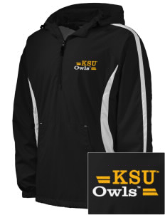 Kennesaw State University Owls Embroidered Men's Colorblock Raglan Anorak