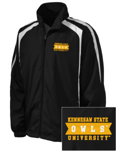 Kennesaw State University Owls Embroidered Men's Colorblock Raglan Jacket
