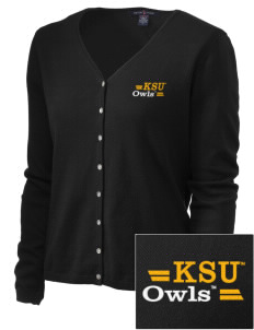Kennesaw State University Owls Embroidered Women's Stretch Cardigan Sweater