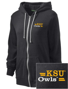 Kennesaw State University Owls Embroidered Alternative Unisex The Rocky Eco-Fleece Hooded Sweatshirt