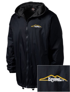 Kennesaw State University Owls Embroidered Dickies Men's Fleece-Lined Hooded Jacket