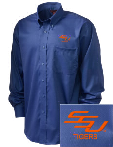 Savannah State University Tigers  Embroidered Men's Nailhead Non-Iron Button-Down