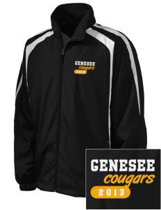 Genesee Community College Cougars Embroidered Men's Colorblock Raglan Jacket