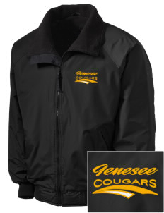 Genesee Community College Cougars Embroidered Men's Fleece-Lined Jacket