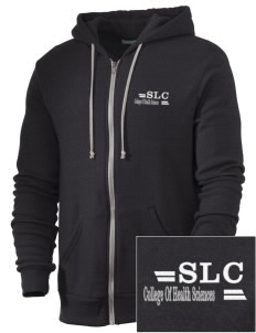 Saint Luke's College   COLLEGE Embroidered Alternative Men's Rocky Zip Hooded Sweatshirt