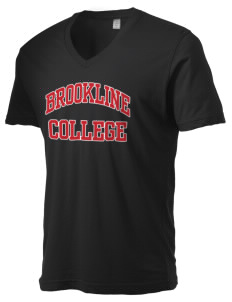 Brookline College College Alternative Men's 3.7 oz Basic V-Neck T-Shirt