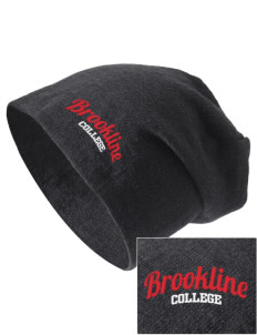Brookline College College Embroidered Slouch Beanie