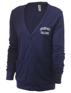 Explorer West Middle School Falcons Unisex 5.6 oz Triblend Cardigan