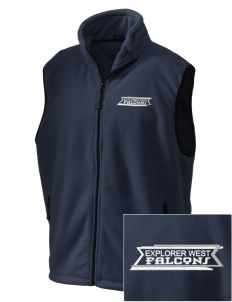 Explorer West Middle School Falcons Embroidered Unisex Wintercept Fleece Vest