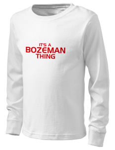 Bozeman Bozeman  Kid's Long Sleeve T-Shirt