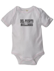 Del Puerto High School Bulldogs Baby Zig-Zag Creeper