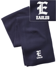 Northlake Elementary School Eagles  Embroidered Knitted Scarf