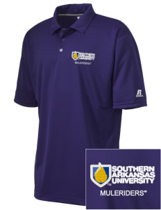 Southern Arkansas University Muleriders Embroidered Russell Coaches Core Polo Shirt