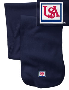 University of South Alabama Jaguars  Embroidered Extra Long Fleece Scarf