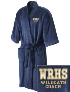 West Ranch High School Wildcats Embroidered Terry Velour Robe