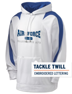 Ellsworth AFB Holloway Men's Sports Fleece Hooded Sweatshirt with Tackle Twill