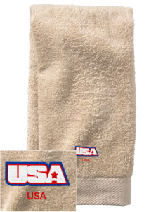 Brooks AFB  Embroidered Zero Twist Resort Hand Towel