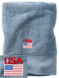 Brooks AFB Embroidered Zero Twist Resort Towel