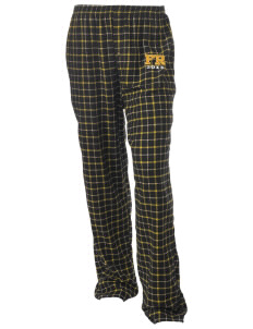 Fort Richardson Unisex Button-Fly Collegiate Flannel Pant with Distressed Applique