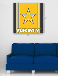 "Hunter Army Airfield Wall Poster Decal 36"" x 36"""