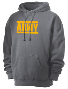 Hunter Army Airfield Men's 80/20 Pigment Dyed Hooded Sweatshirt