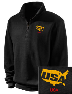 Aberdeen Proving Ground Embroidered Men's 1/4-Zip Sweatshirt