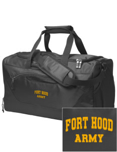 Fort Hood Embroidered Holloway Chill Medium Duffel Bag