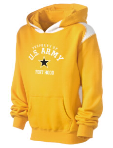 Fort Hood Kid's Pullover Hooded Sweatshirt with Contrast Color