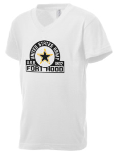 Fort Hood Kid's V-Neck Jersey T-Shirt
