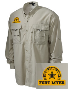 Fort Myer Embroidered Men's Explorer Shirt with Pockets