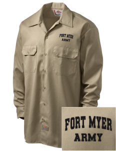 Fort Myer Embroidered Dickies Men's Long-Sleeve Workshirt