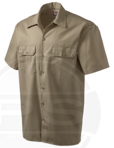 Fort Myer Embroidered Dickies Men's Short-Sleeve Workshirt