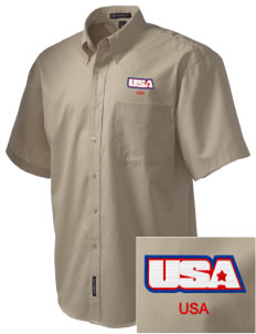 Fort Myer Embroidered Men's Easy Care Shirt