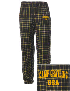 Camp Grayling Embroidered Men's Button-Fly Collegiate Flannel Pant
