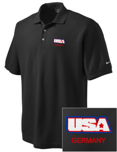 Darmstadt Embroidered Nike Men's Pique Knit Golf Polo