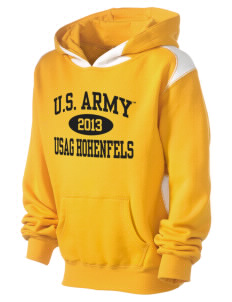 Hohenfels Kid's Pullover Hooded Sweatshirt with Contrast Color