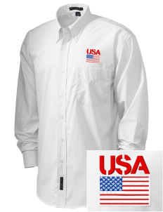 USAG Schweinfurt  Embroidered Men's Easy Care, Soil Resistant Shirt