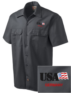 USAG Schweinfurt Embroidered Dickies Men's Short-Sleeve Workshirt