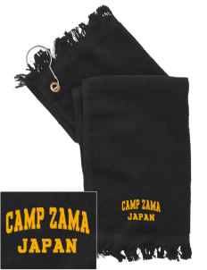 Camp Zama  Embroidered Grommeted Finger Tip Towel